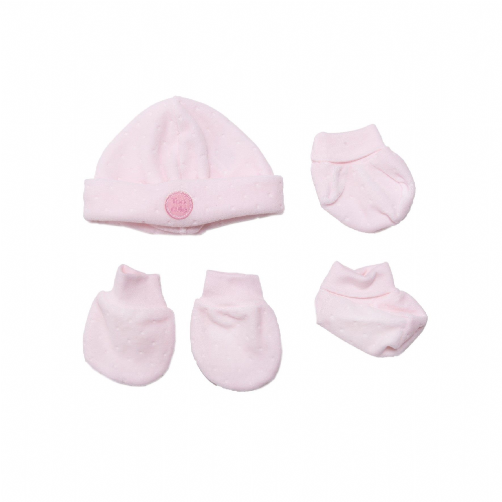 "AV2415P Too Cute""  Hat Mitts & Bootees"